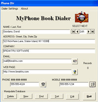 BREAKTRU MyPhone Book Dialer screenshot medium