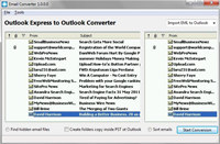 Emltopst Outlook Express to Outlook Converter screenshot medium