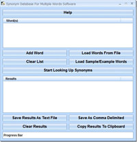 Synonym Database For Multiple Words Software screenshot medium