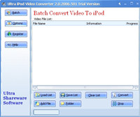 Ultra Video To iPod Converter screenshot medium
