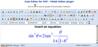 fMath Editor - Cute Editor Plugin