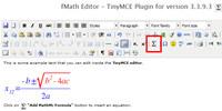 fMath Editor - TinyMCE Plugin