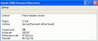 Atomic RAR Password Recovery screenshot medium