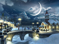 Snow Village 3D Screensaver screenshot medium