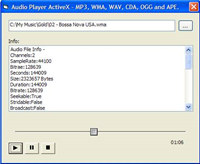 Audio Player ActiveX screenshot medium
