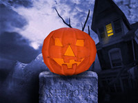 Keep Out Halloween Edition 3D Screen Saver