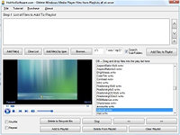 Delete Windows Media Player Files from Playlists all at once screenshot medium