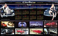 Car Art Desktop Calendar