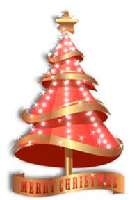 Golden Christmas Tree