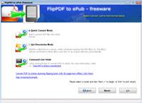 Flip PDF to ePUB - Freeware