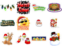 Free Christmas Emoticons screenshot medium