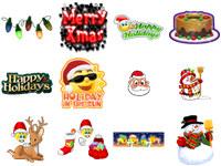Free Christmas Emoticons screenshot medium