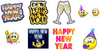 New Year Smileys