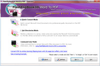 FlippingBook3D Word to PDF Conveter screenshot medium