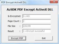 AzSDK PDF Encrypt ActiveX DLL screenshot medium