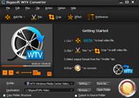 Bigasoft WTV Converter screenshot medium