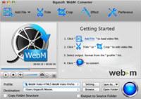 Bigasoft WebM Converter for Mac
