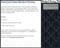 Understand Online Blackjack Strategy