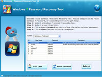 Daos Windows 7 Password Recovery Tool screenshot medium