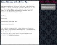 Some Winning Video Poker Tips