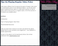 Tips On Playing Regular Video Poker screenshot medium