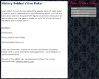History Behind Video Poker