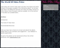 The World Of Video Poker