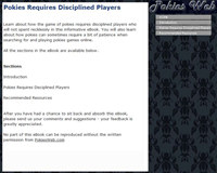 Pokies Requires Disciplined Players