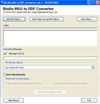 Birdie MSG to PDF Converter screenshot medium