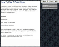 How To Play A Poker Game