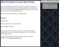 What You Need To Learn About Poker