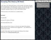 Knowing The History Of Poker