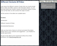 Different Variants Of Poker