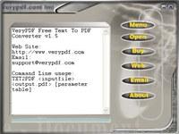VeryPDF Free Text to PDF Converter