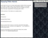 Enjoying Poker Games