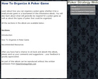 How To Organize A Poker Game