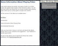 Some Information About Playing Poker