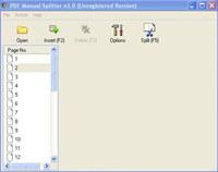VeryPDF PDF Manual Splitter
