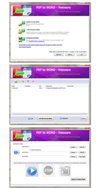 PageFlip Free PDF to Word screenshot medium