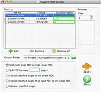 VeryPDF PDF Splitter for Mac