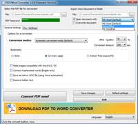 Hodes PDF to Word Converter