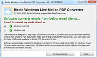 Birdie Windows Live Mail to PDF Converter screenshot medium