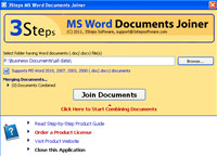3Steps MS Word Documents Joiner