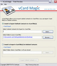 Program to Import vCard to Outlook screenshot medium