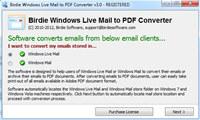 Windows Live Mail Import to PDF