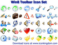 Win8 Toolbar Icon Set