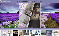 Page Flipping Themes in Lavender style