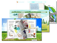 Green Style theme for Page Turning Book Design