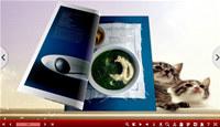 Pretty Cat Templates for 3D Flip Book
