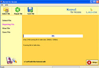 MS Access File Recovery Software screenshot medium